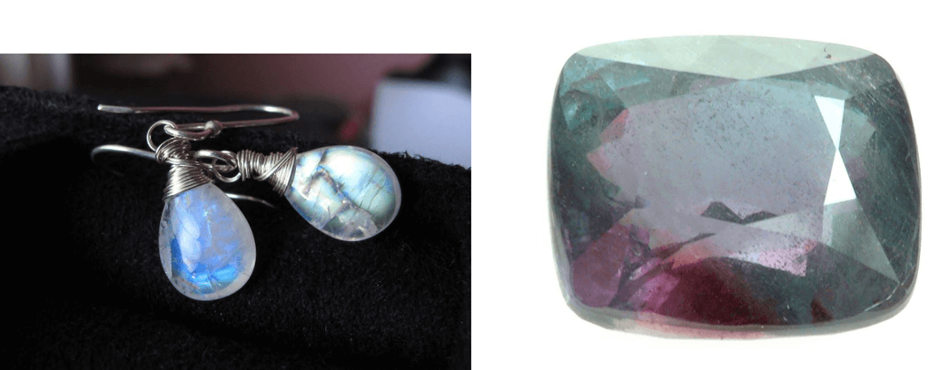 Alternative Birthstones: Alexandrite and Moonstone