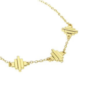 Baori Trinity Bracelet - 18ct Gold Vermeil
