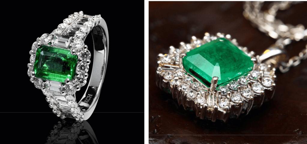 Emerald as jewellery