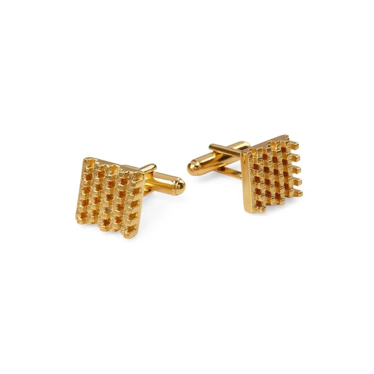 HIve Cufflinks 18 ct Gold Vermeil