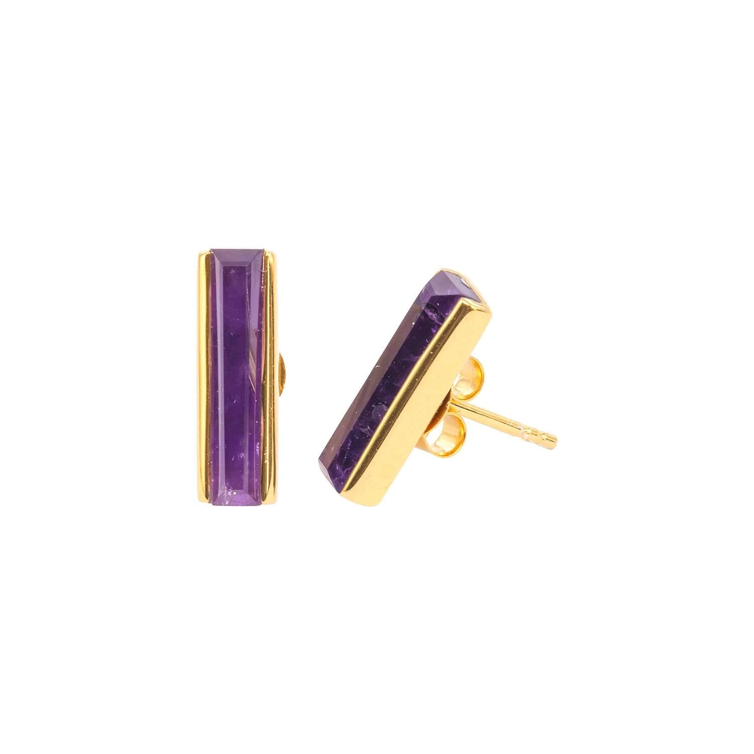 Urban Mini Studs Earrings Amethyst
