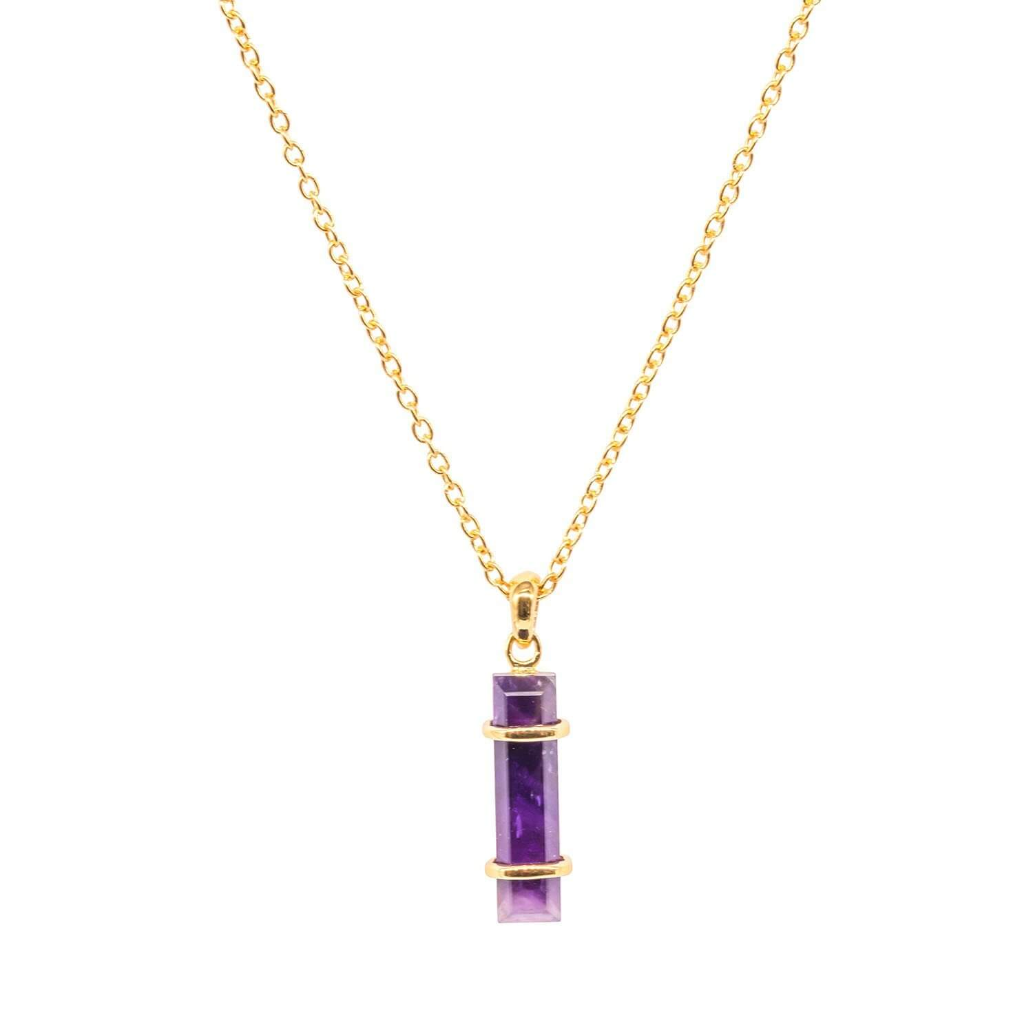 Jewel Tree London Urban Pendant Amethyst