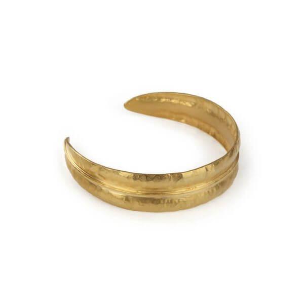 CUFF BRACELET - FOREST SLIM CUFF  18ct Gold Vermeil