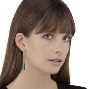 Earring - URBAN EARRINGS  Green Onyx