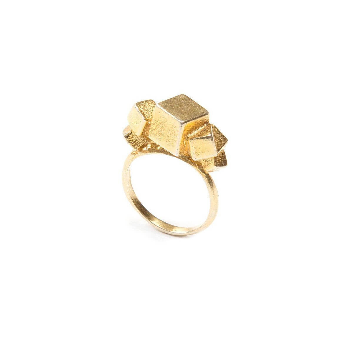 Ring - 7CUBE RING  18ct Gold Vermeil