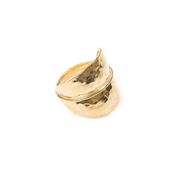 Ring - FOREST LEAF RING  18ct Gold Vermeil