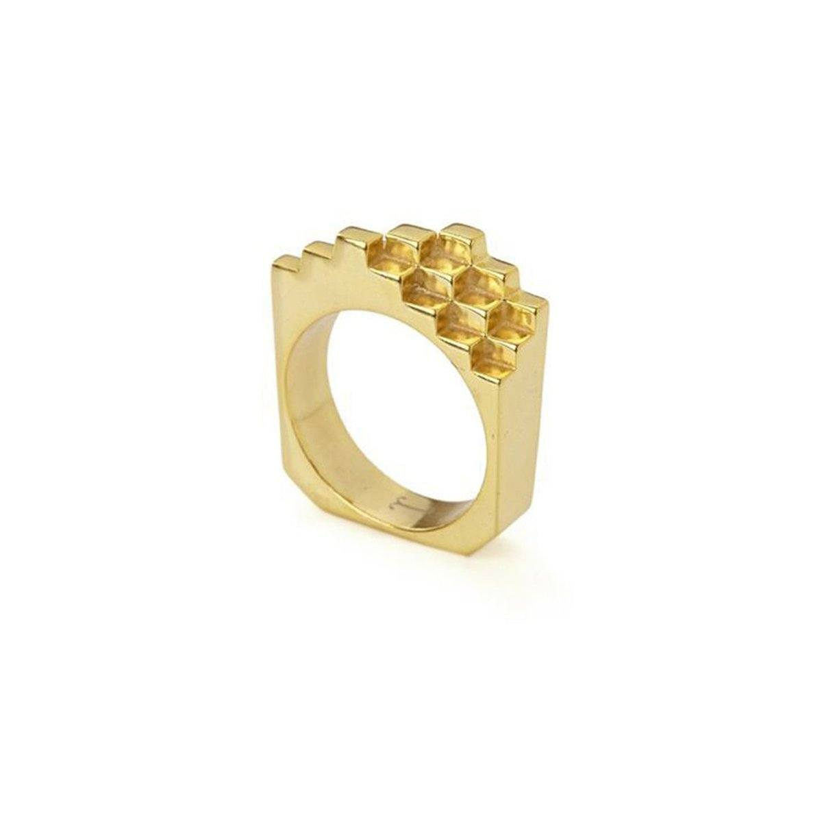 Ring - HIVE RING  18ct Gold Vermeil