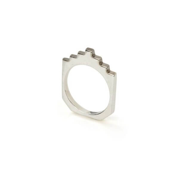 Ring - HIVE STACK RING  Sterling Silver