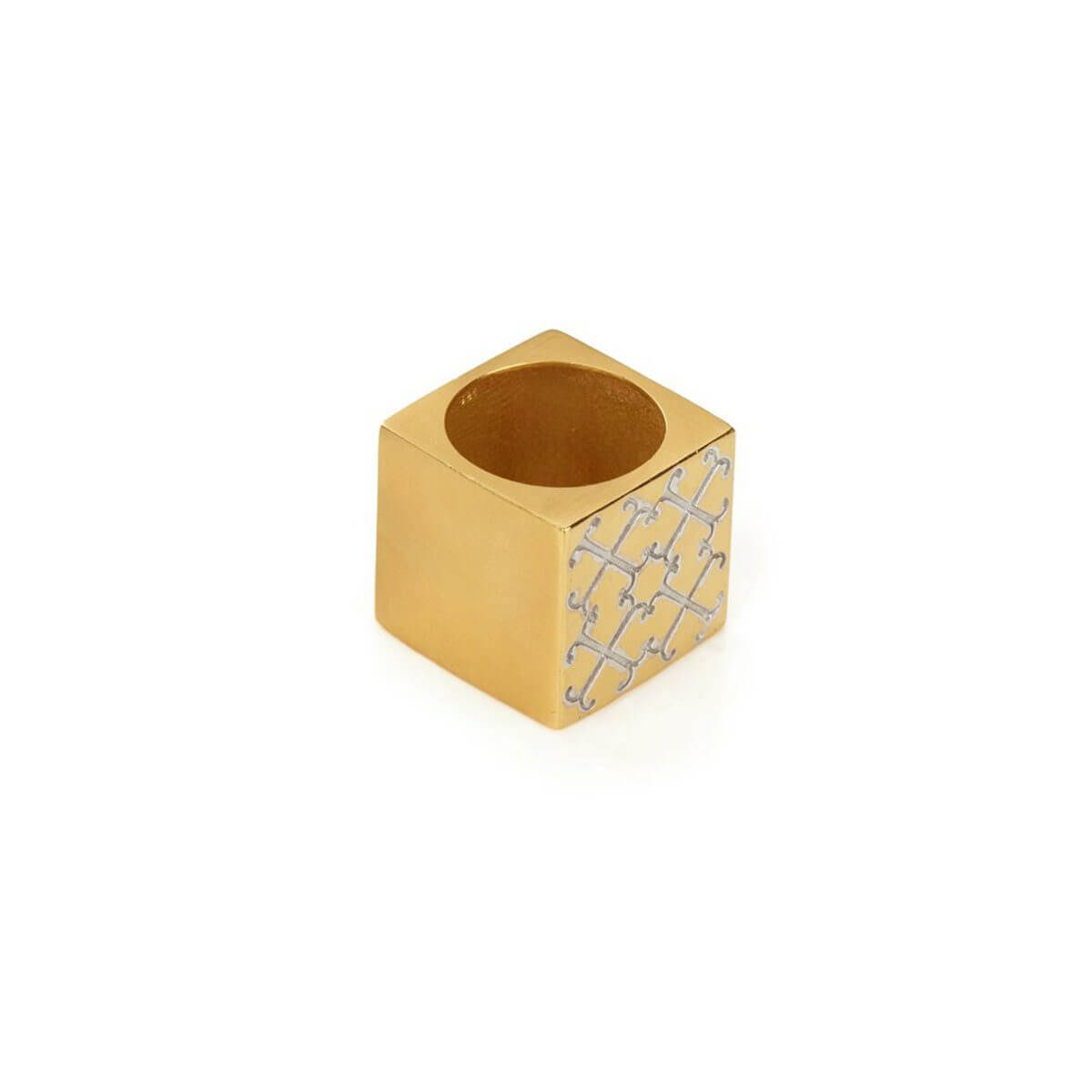 Ring - LOGO CUBE RING  18ct Gold Vermeil