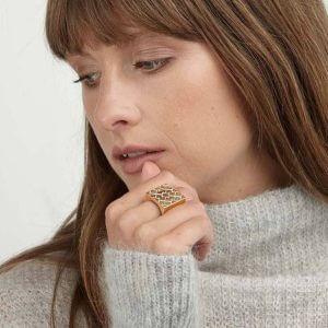 Ring - LOGO CUBE RING  18ct Gold Vermeil