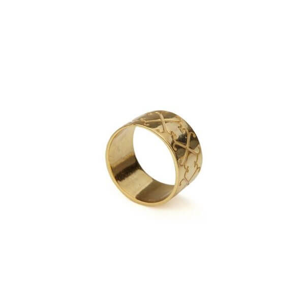 Ring - LOGO RING  18ct Gold Vermeil