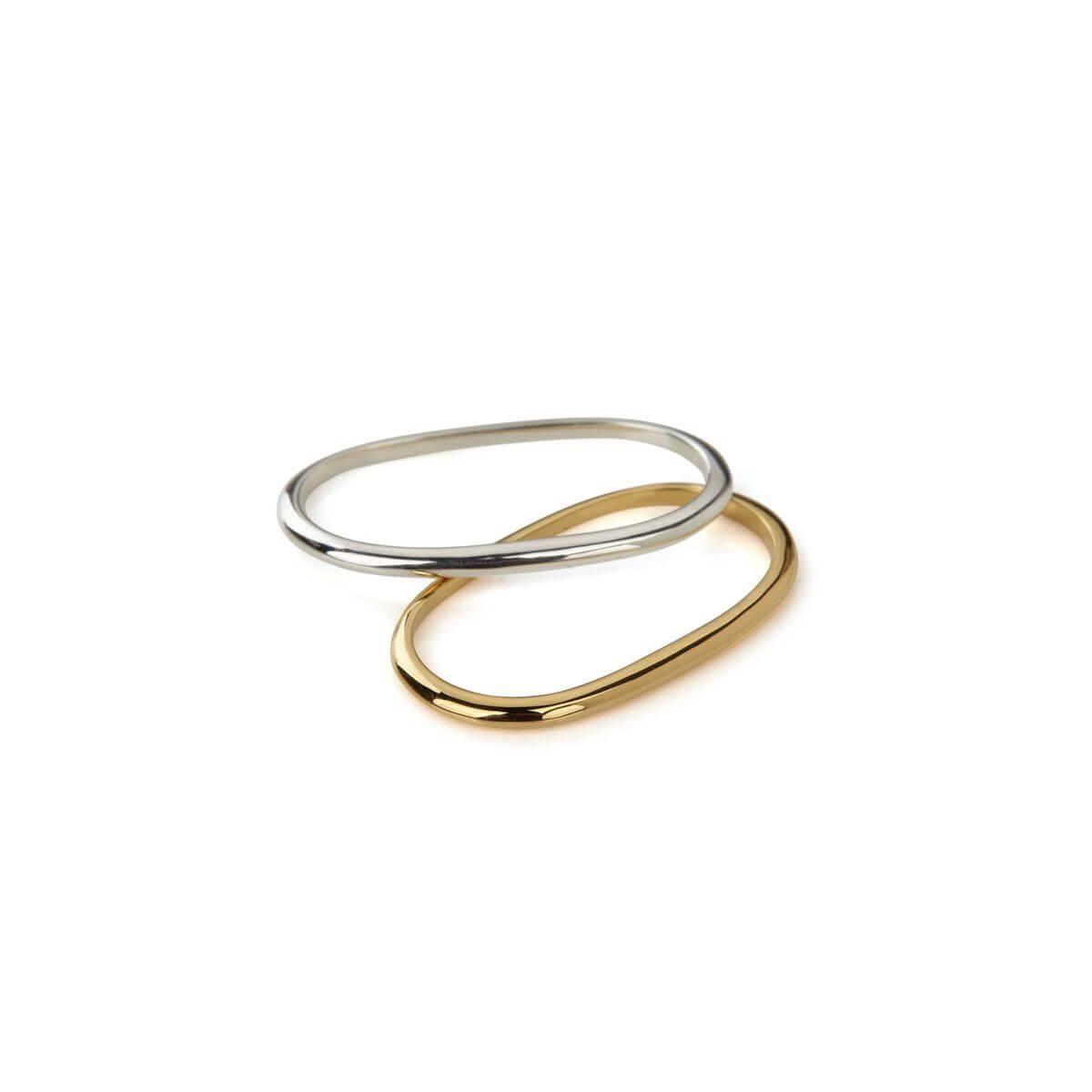 Ring - PURE DOUBLE RING  18ct Gold Vermeil