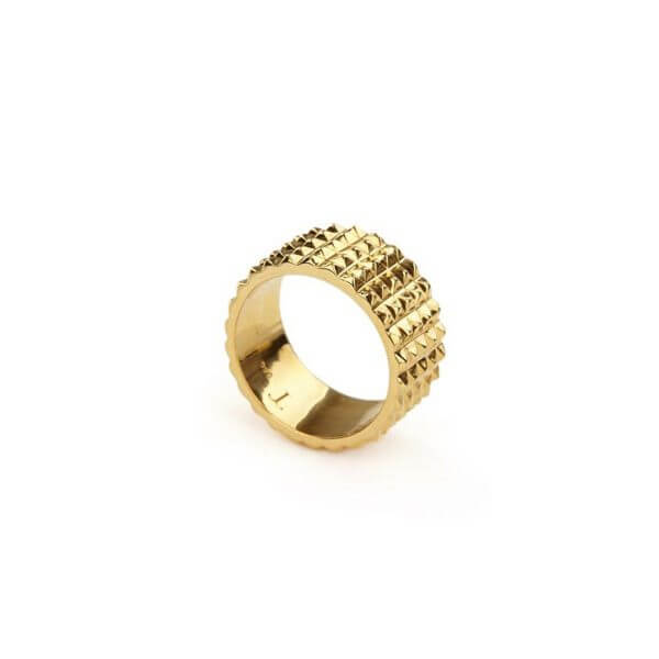 Ring - PURE PYRAMID RING  18ct Yellow Gold Vermeil