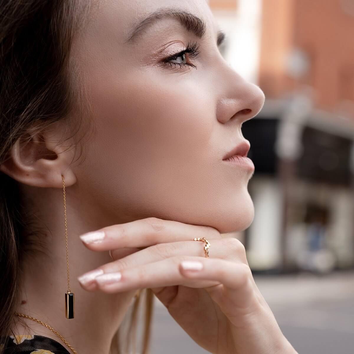 urban earrings black onyx