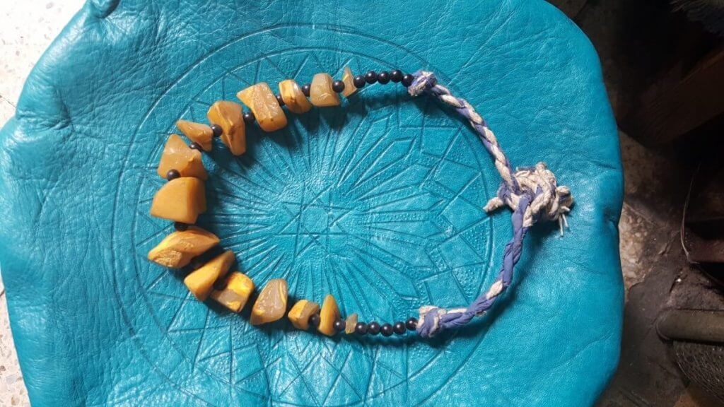 This Bracelet Made of Yellow Quartz